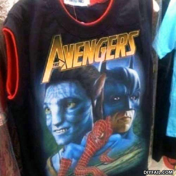 - Clearly the t-shirt company never saw the movie! (