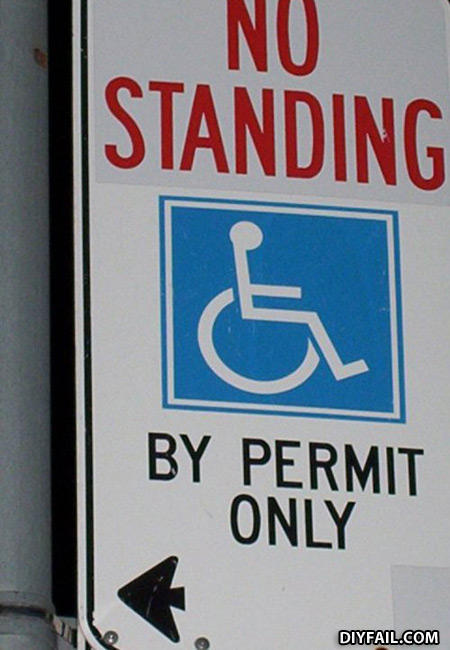 No_standing_handicap_sign