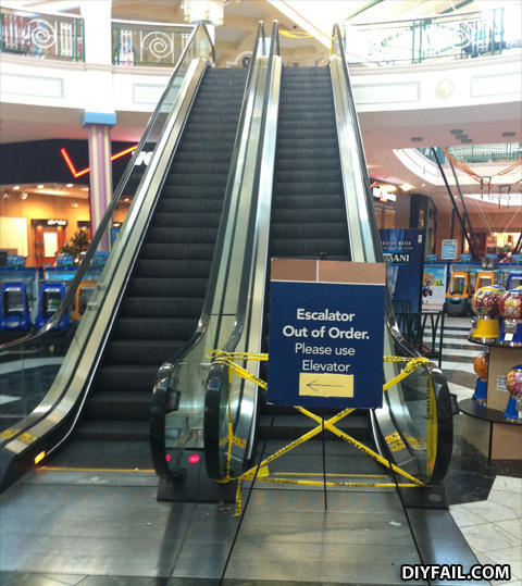 - You guys DO realize, that when escalators shut dow