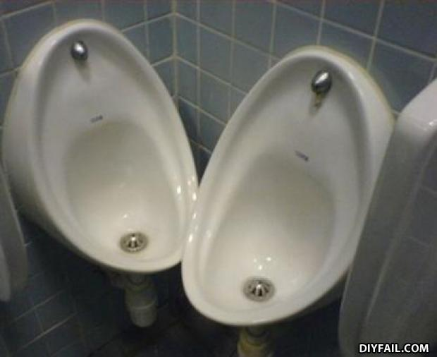 - Those urinals are too close to eachother