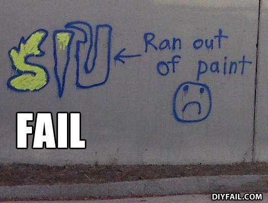 "- OK, THEN WHAT DID HE USE WRITE ""RAN OUT OF PAINT"""