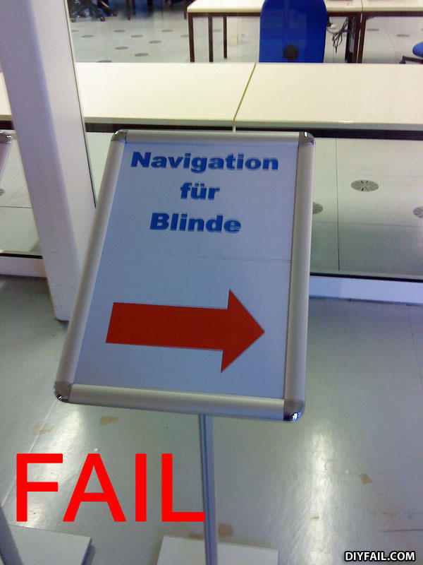 - that means navigation for blinds