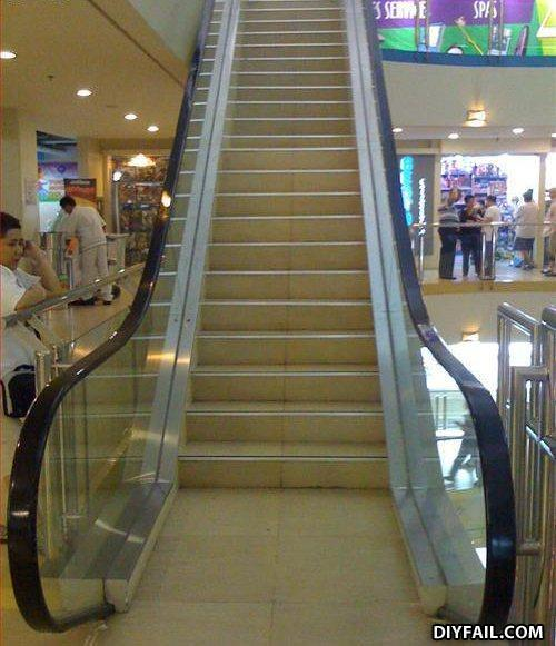 - DIY fail?? ?  Escalators should only be used by sk