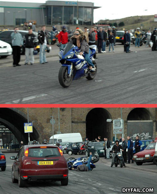 - Haha, motorcyclists.