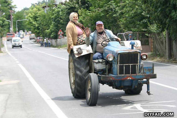 - The tractor is NOT green! FAIL!