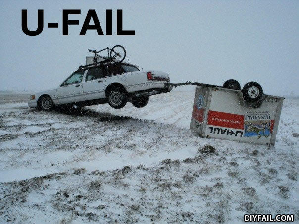 - i think the u-haul is supposed to go the other way