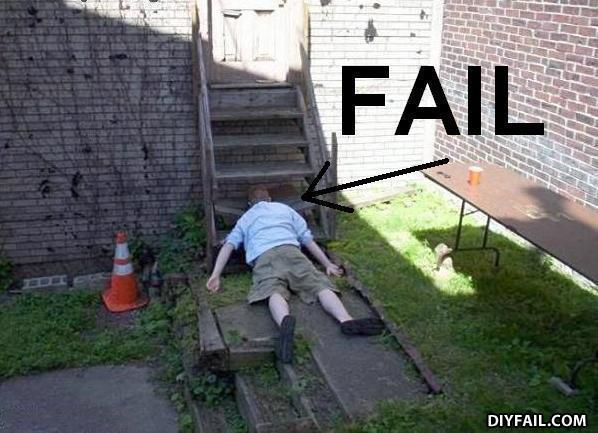 - he must have fell hard, he even snaped the step :O